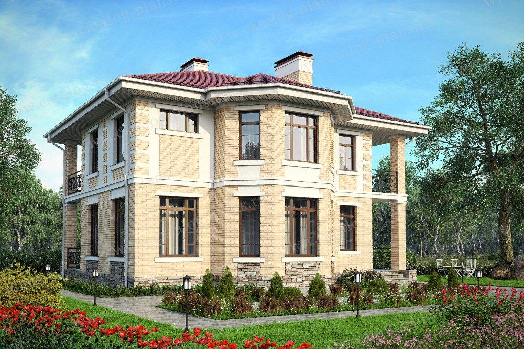 Проект жилой дом #57-41AK материал - кирпич, стиль классический