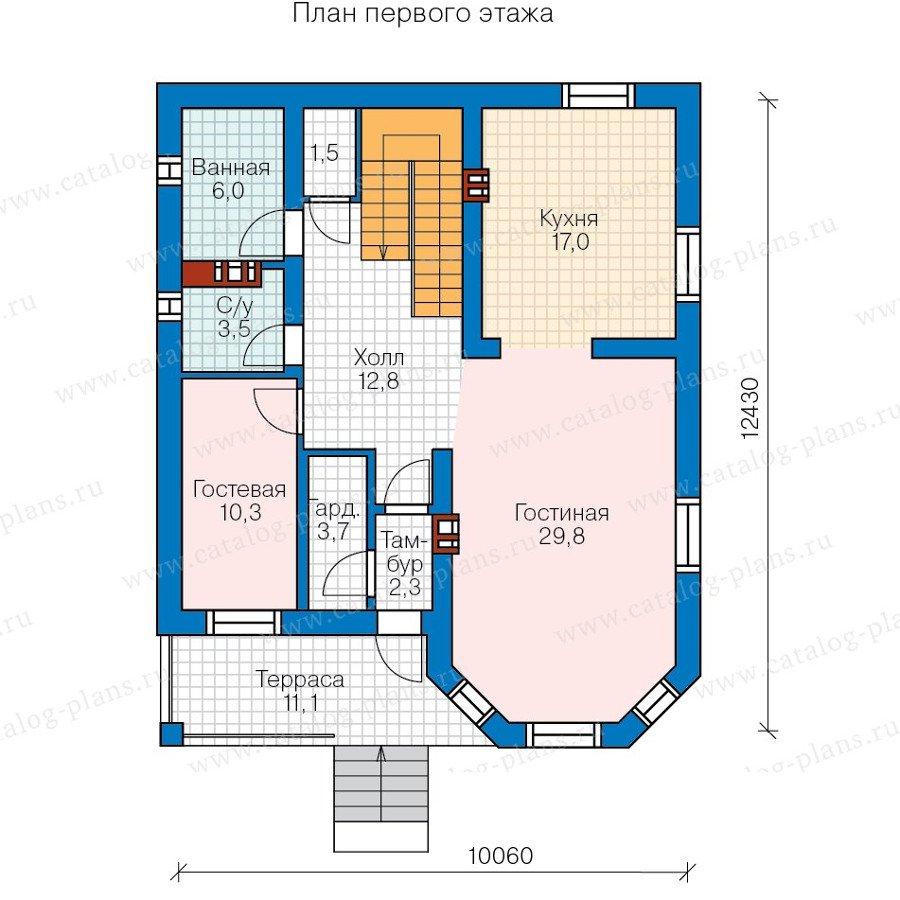 План 2-этажа проекта 57-43A
