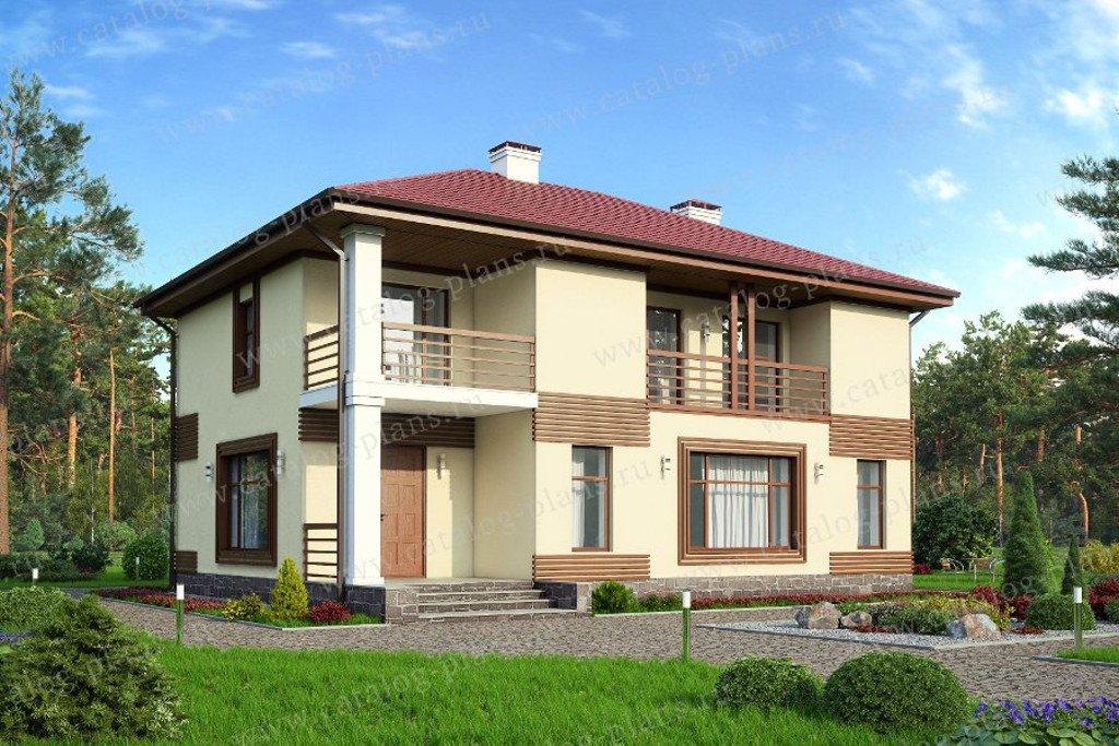 Проект жилой дом #57-26AK материал - кирпич, стиль хай-тек