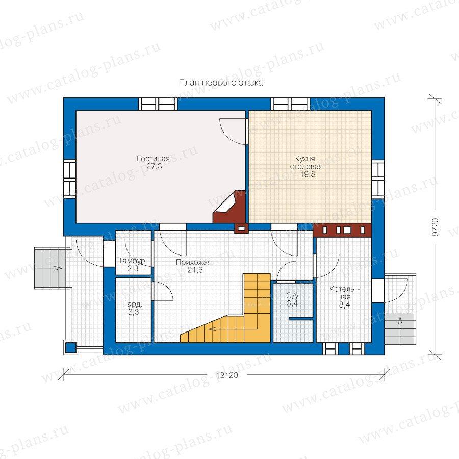 План 1-этажа проекта 49-99