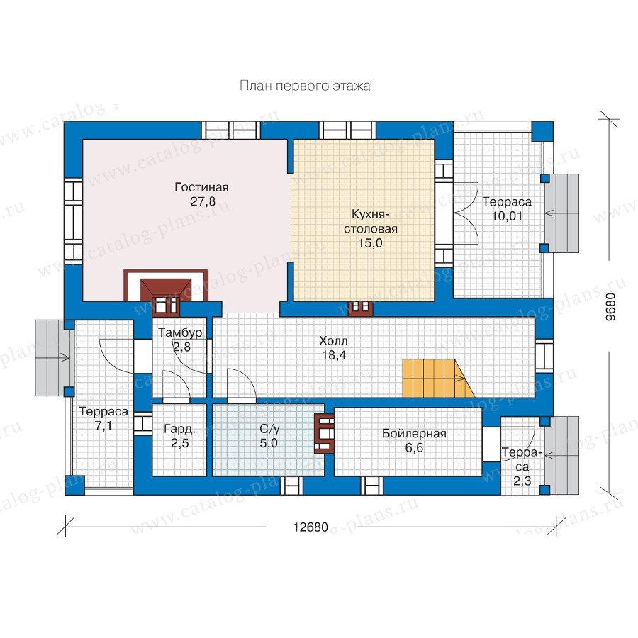 План 1-этажа проекта 57-19L