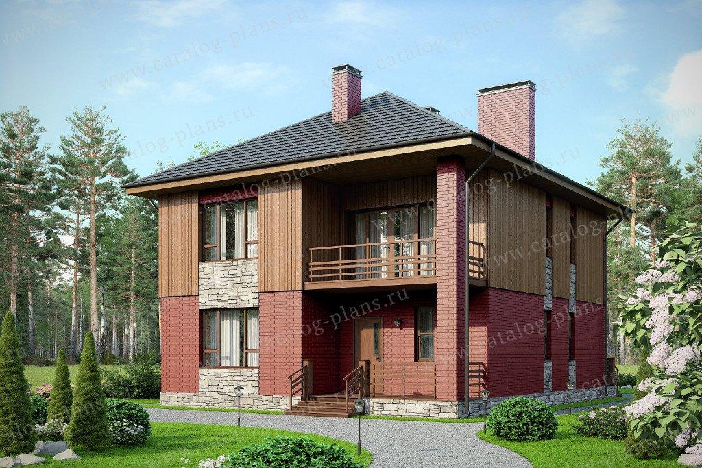 Проект жилой дом #57-19L материал - газобетон, стиль скандинавский