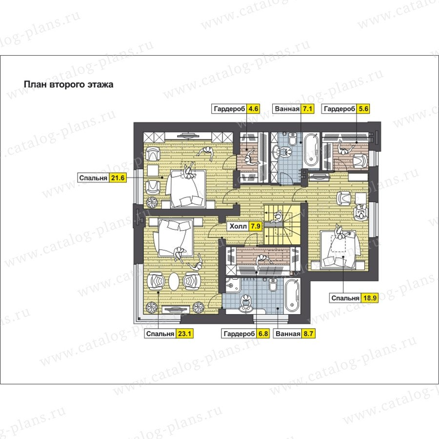 План 2-этажа проекта 59-24C