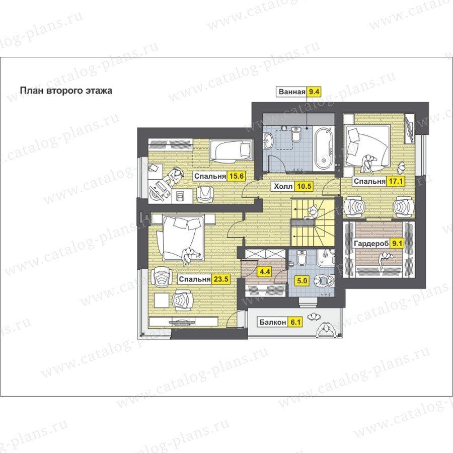 План 2-этажа проекта 59-24B