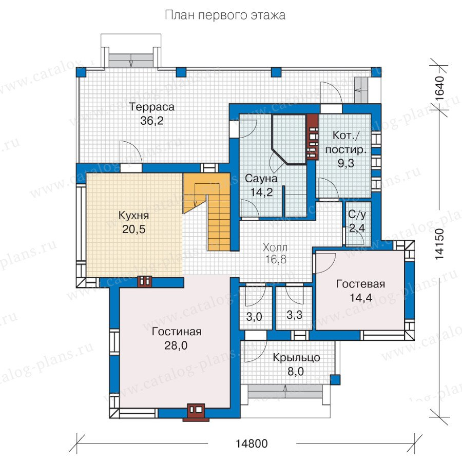 План 1-этажа проекта 57-21K