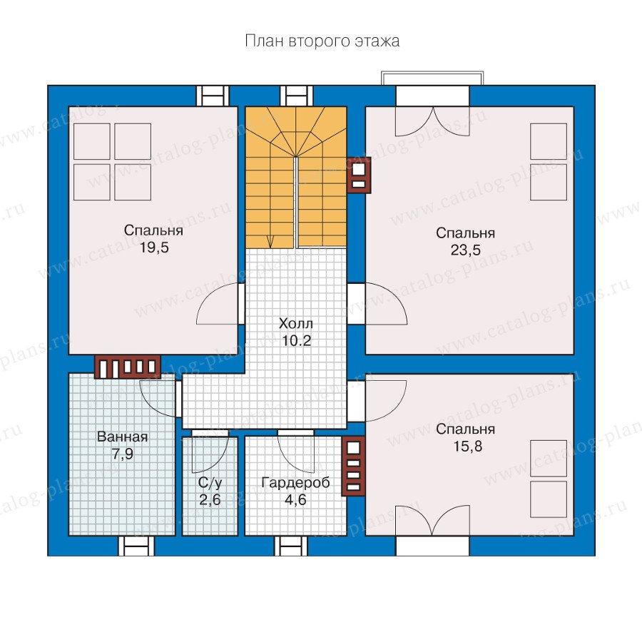 План 2-этажа проекта 57-09L