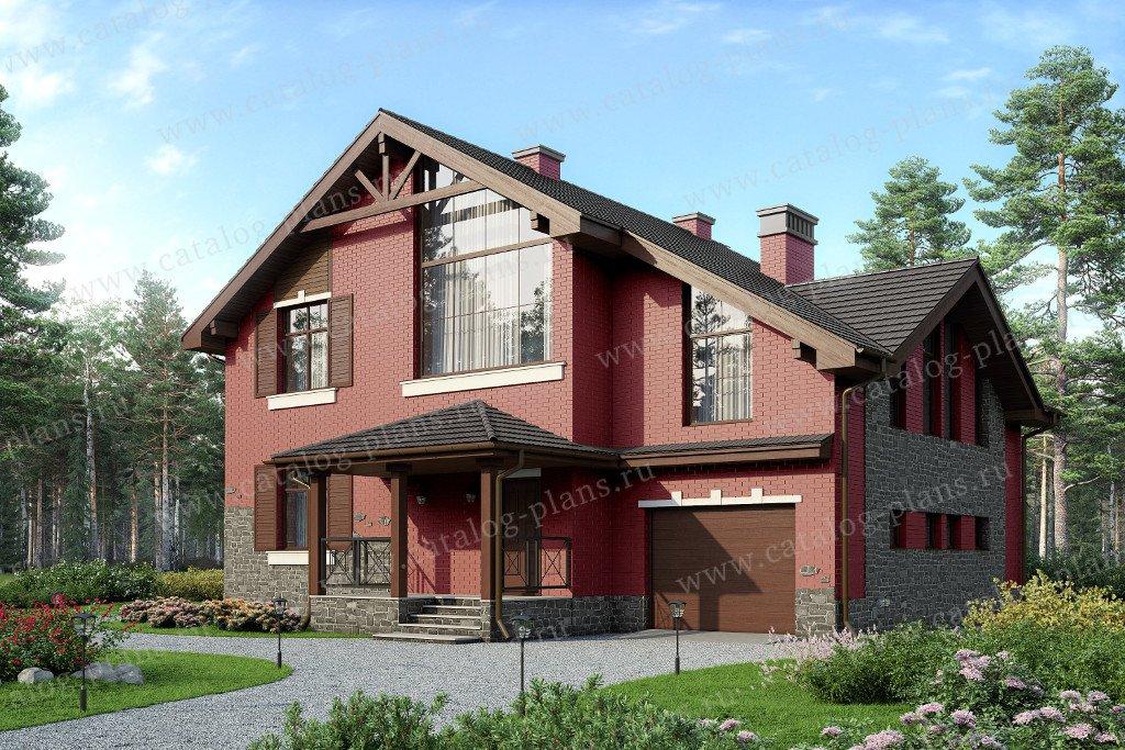 Проект жилой дом #57-22L материал - газобетон, стиль скандинавский