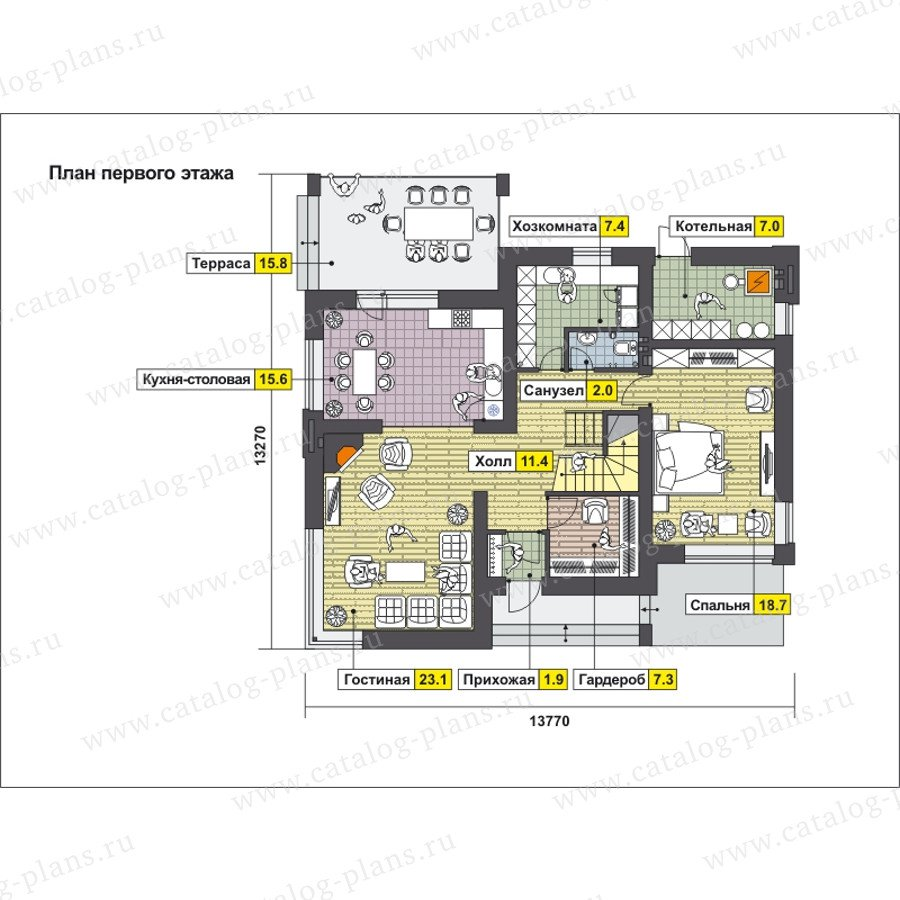 План 1-этажа проекта 59-24BK