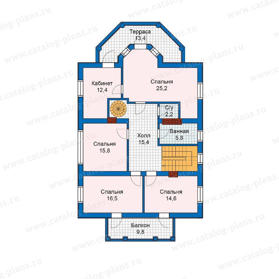 План 2-этажа проекта 57-15A