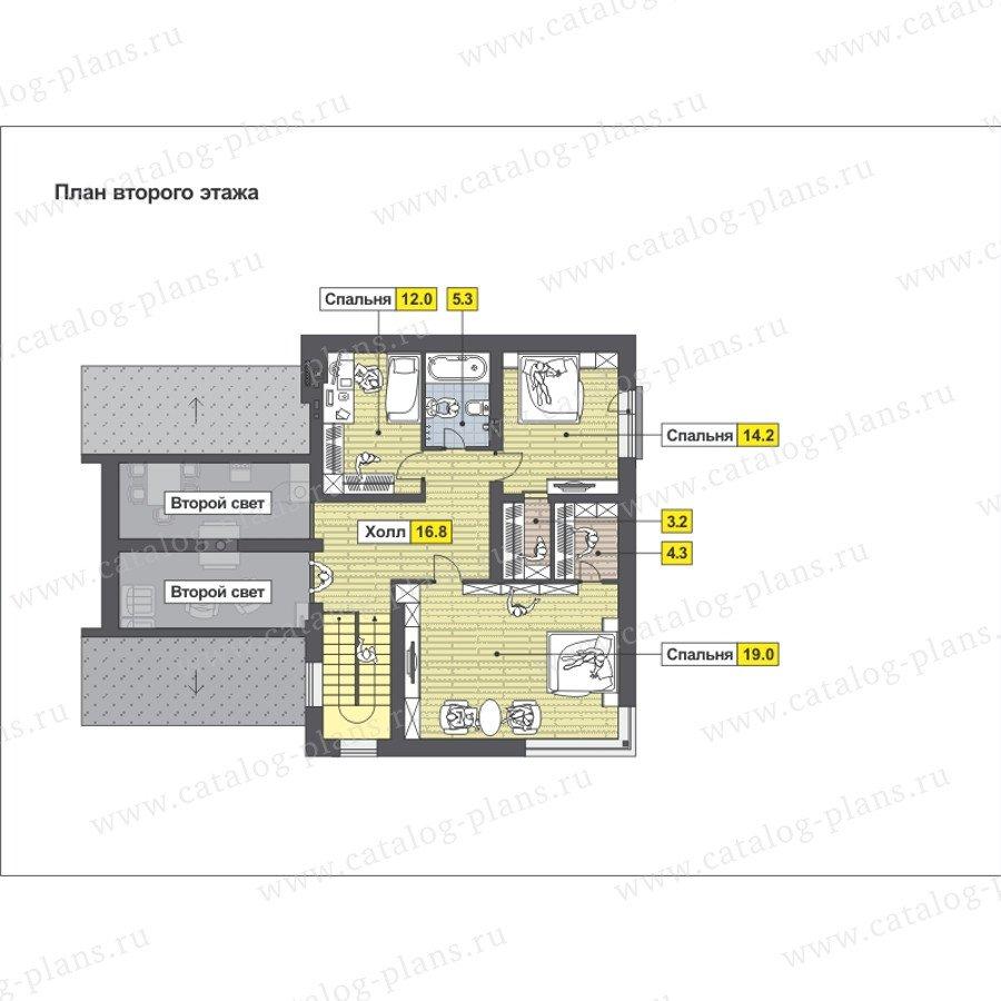 План 3-этажа проекта 59-25EK