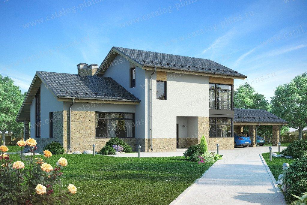 Проект жилой дом #59-25A материал - газобетон, стиль скандинавский