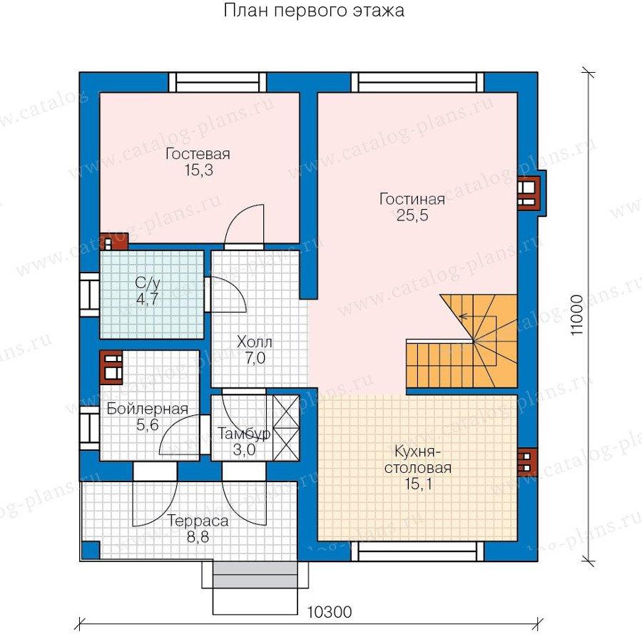 План 1-этажа проекта 58-15