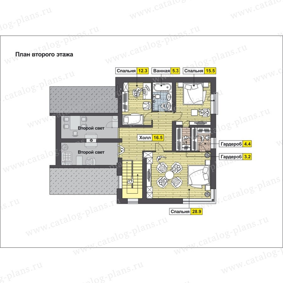 План 2-этажа проекта 59-25A
