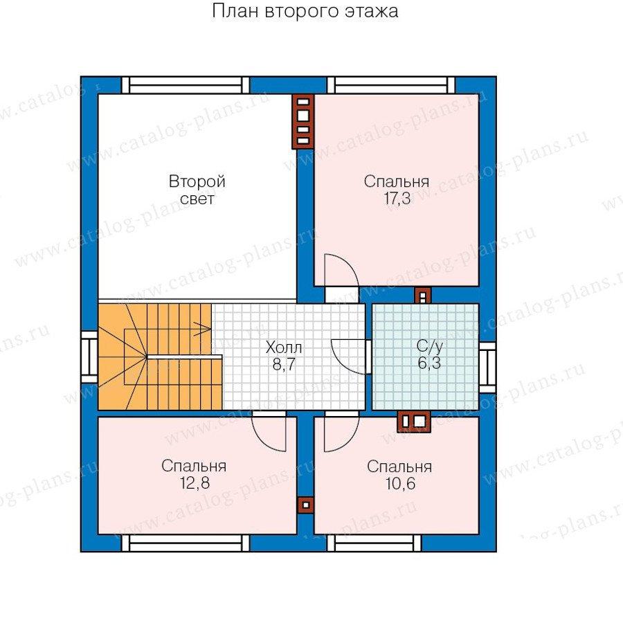 План 2-этажа проекта 58-21A