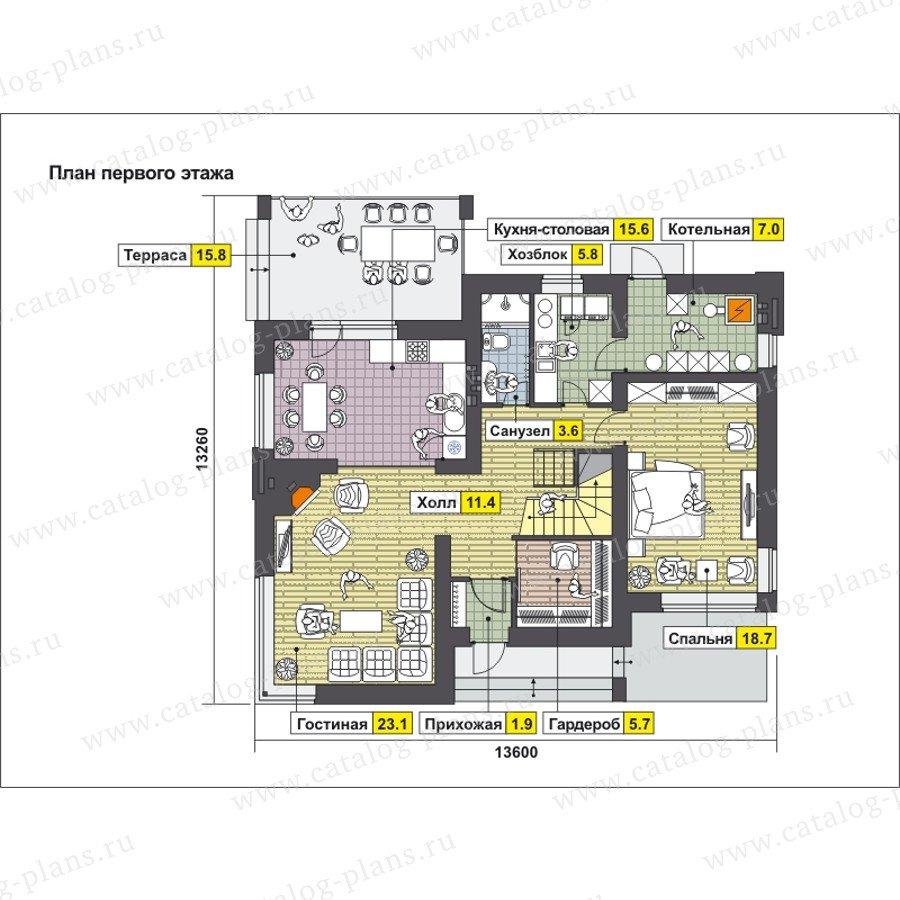 План 1-этажа проекта 59-24D