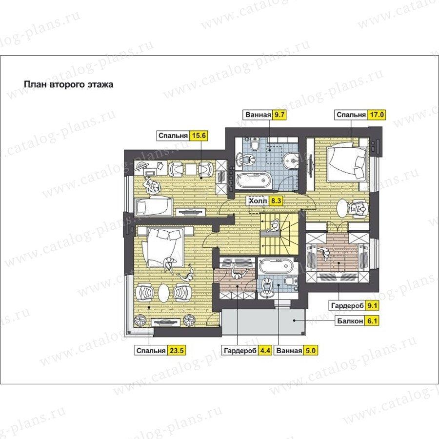 План 2-этажа проекта 59-24D