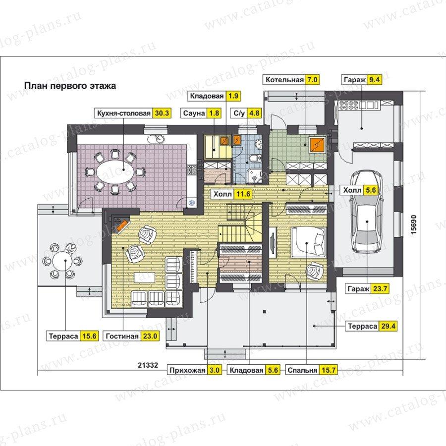 План 1-этажа проекта 59-24F