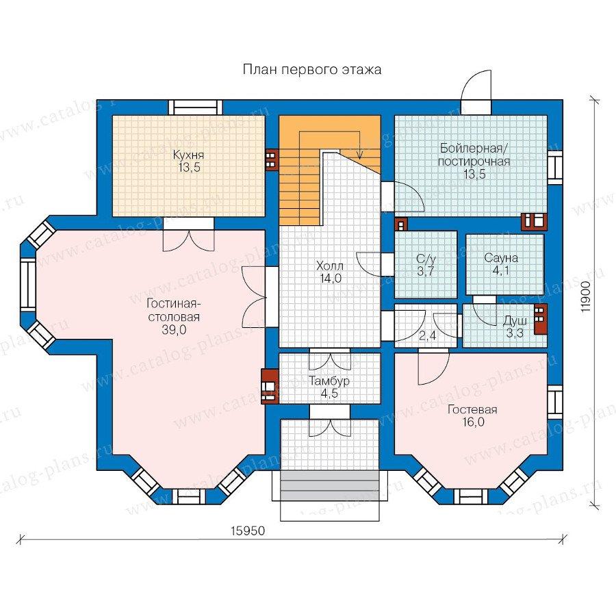 План 1-этажа проекта 58-05K