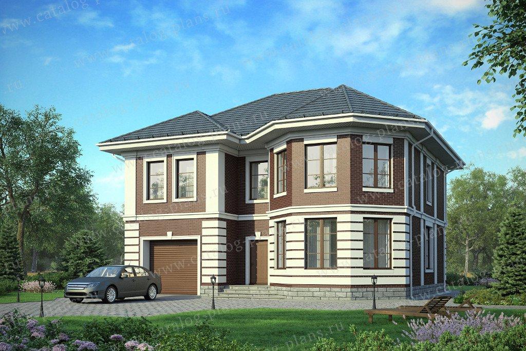 Проект жилой дом #58-14KL материал - кирпич, стиль европейский