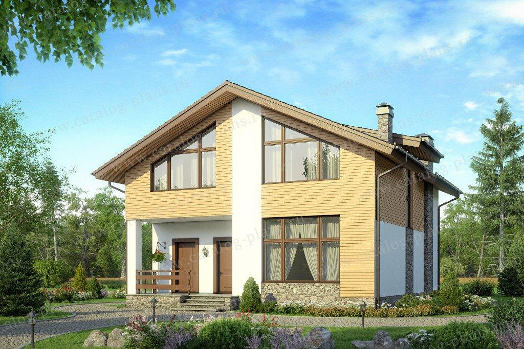 Проект жилой дом #58-15 материал - газобетон, стиль современный