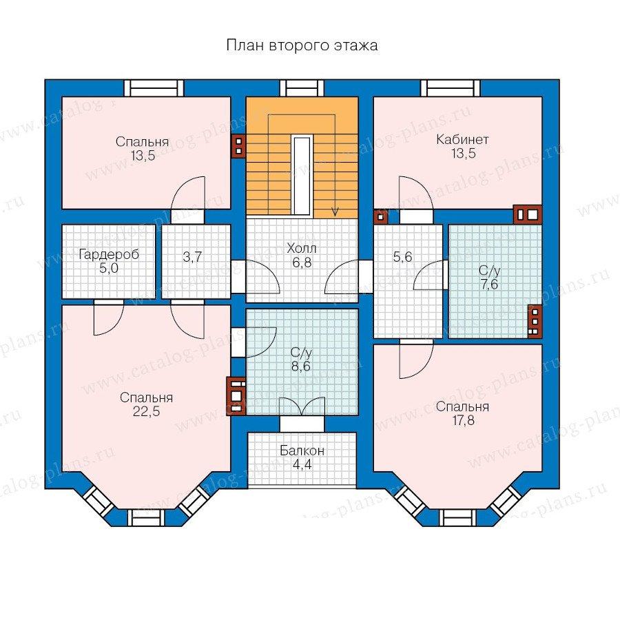 План 2-этажа проекта 58-05K