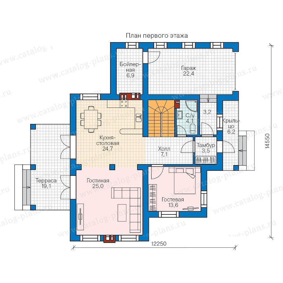 План 1-этажа проекта 58-11