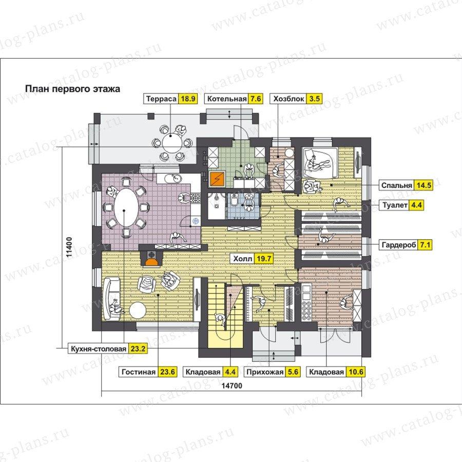 План 1-этажа проекта 59-25D