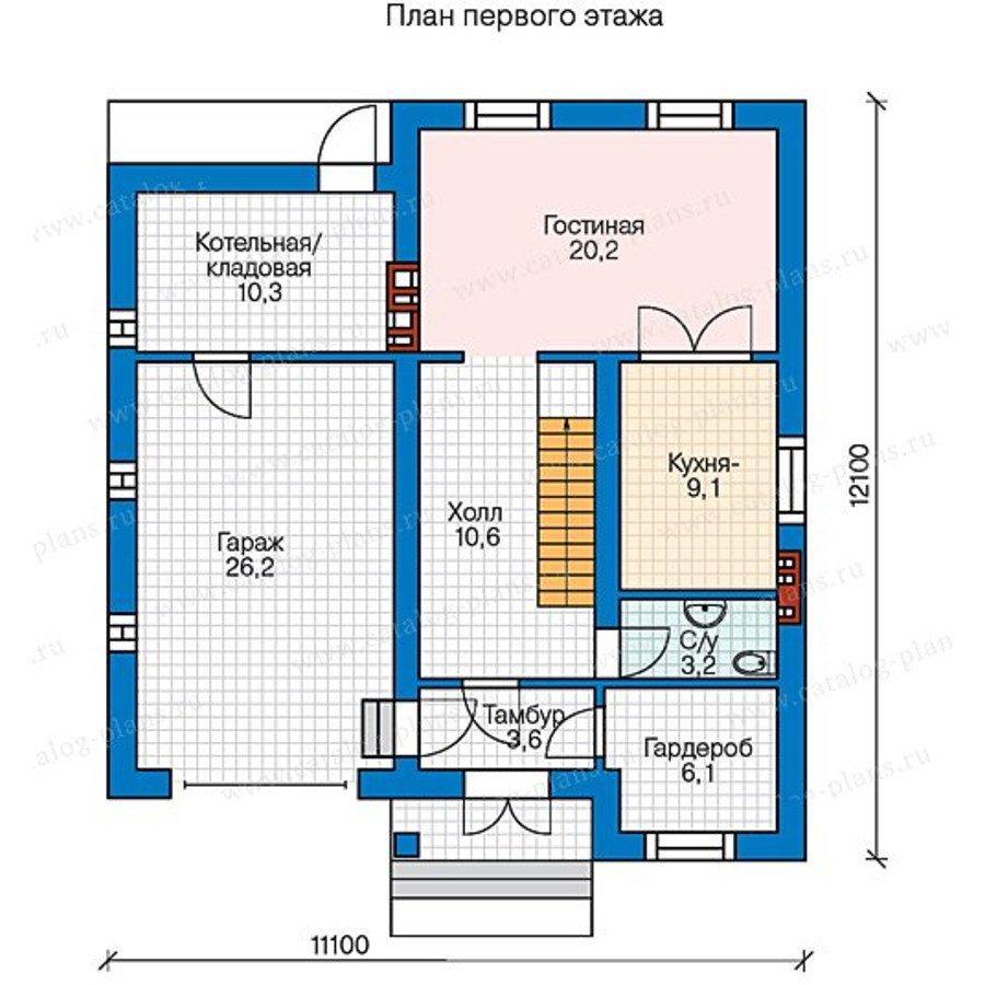 План 1-этажа проекта 58-04
