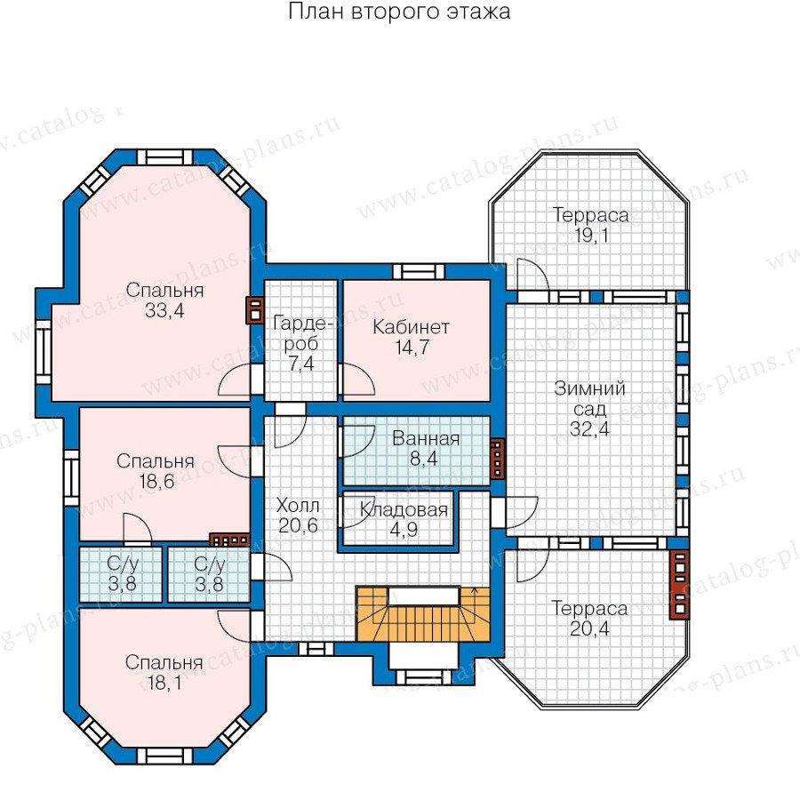 План 2-этажа проекта 58-06