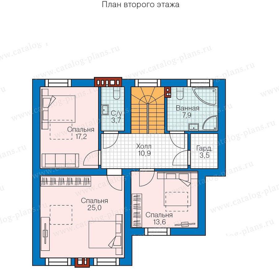 План 2-этажа проекта 58-11