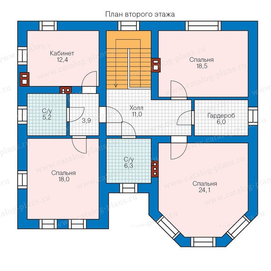 План 2-этажа проекта 58-14KL