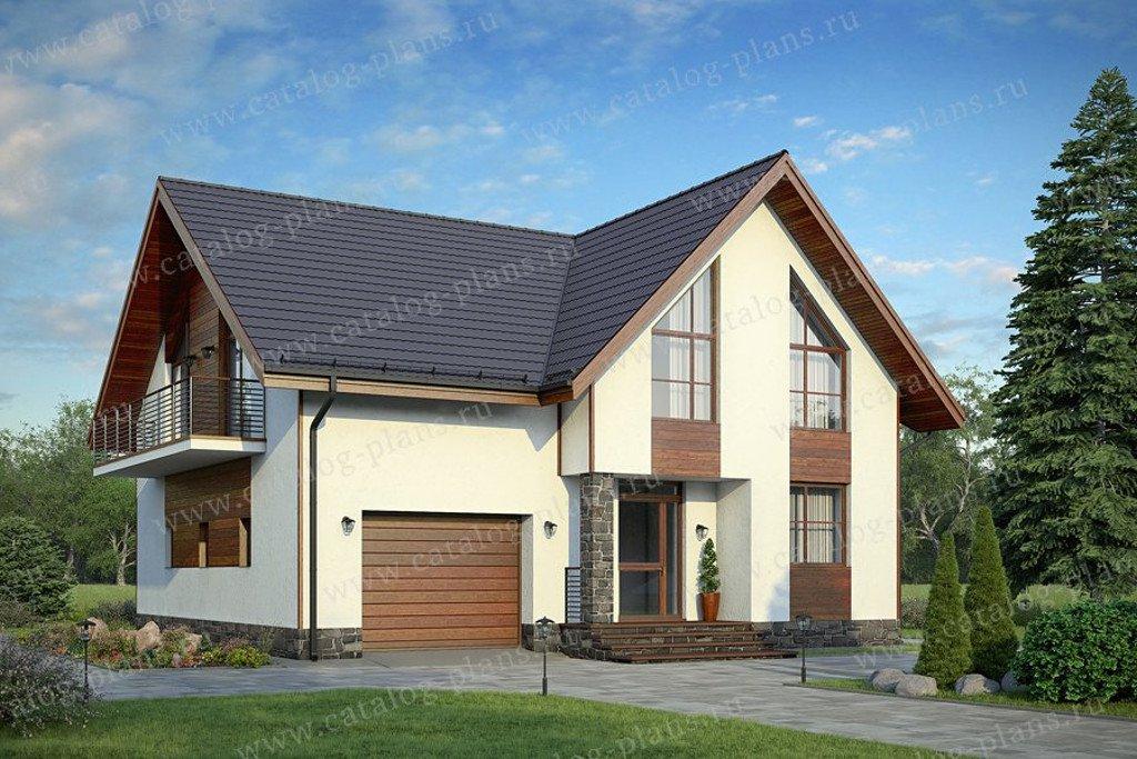 Проект жилой дом #58-04 материал - газобетон, стиль минимализм