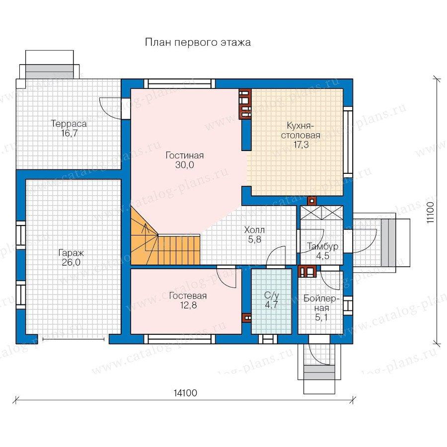 План 1-этажа проекта 58-21A