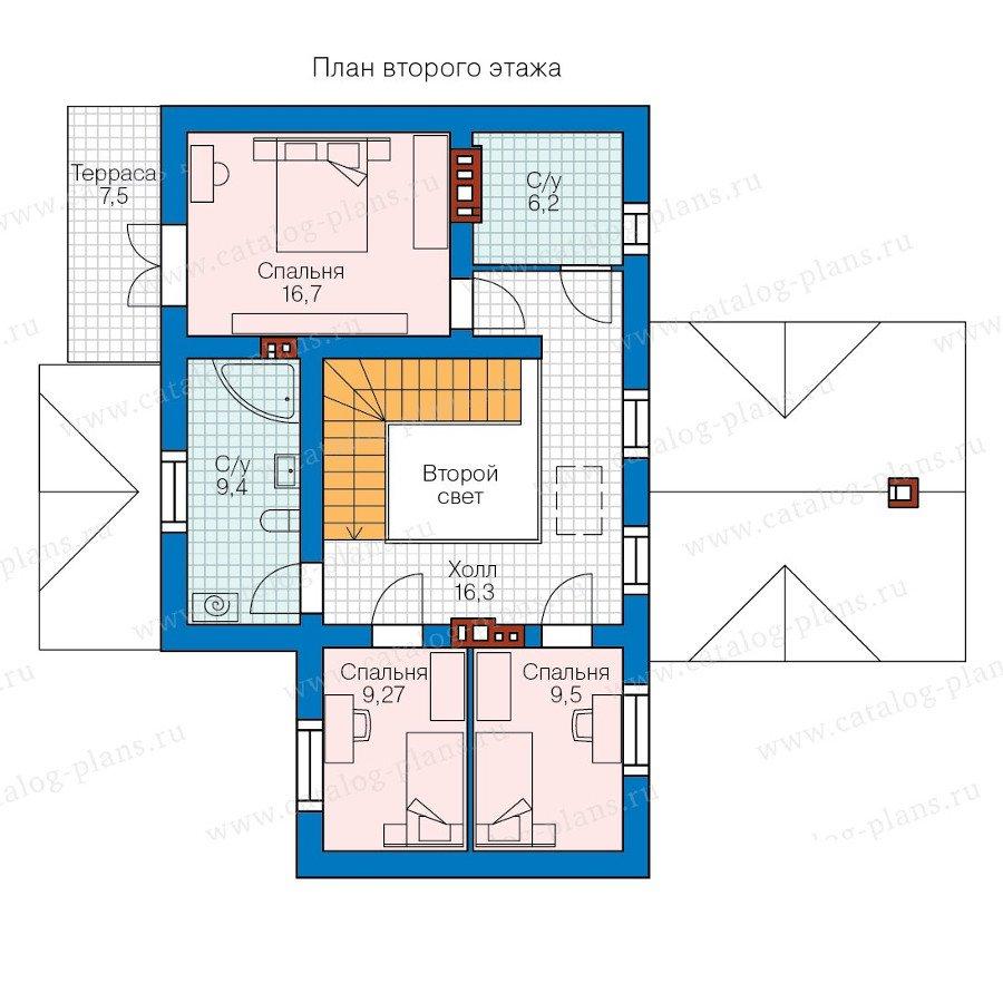 План 2-этажа проекта 58-33K