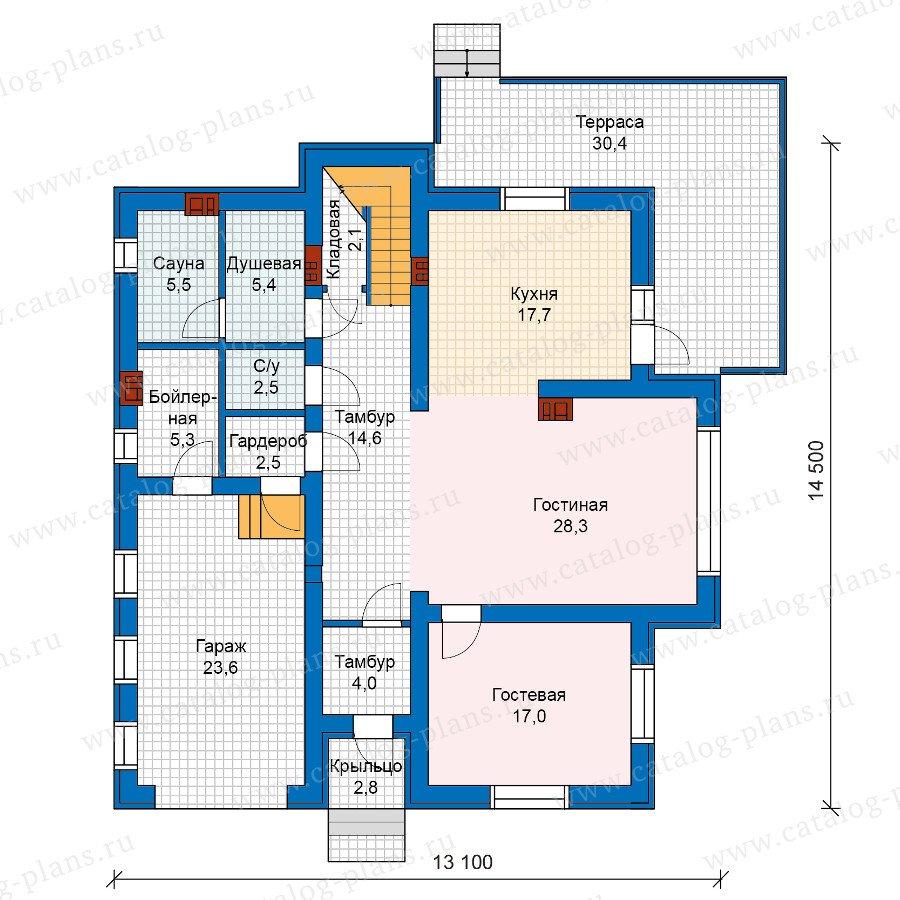 План 1-этажа проекта 57-54