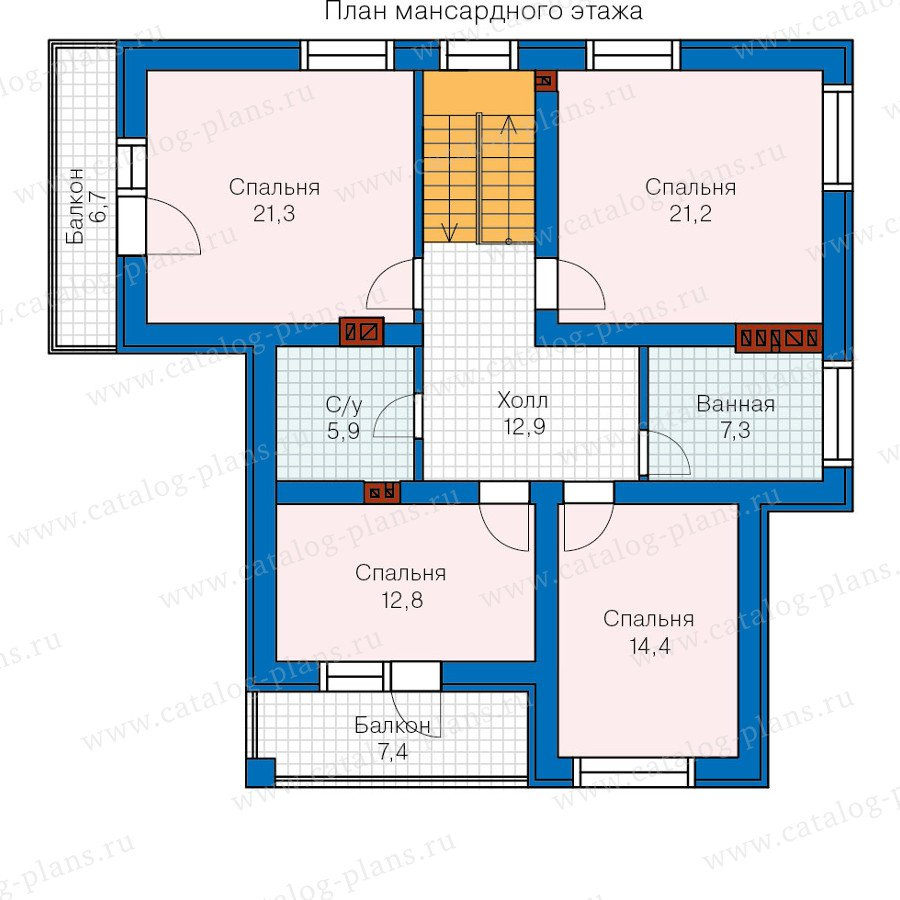 План 2-этажа проекта 57-55