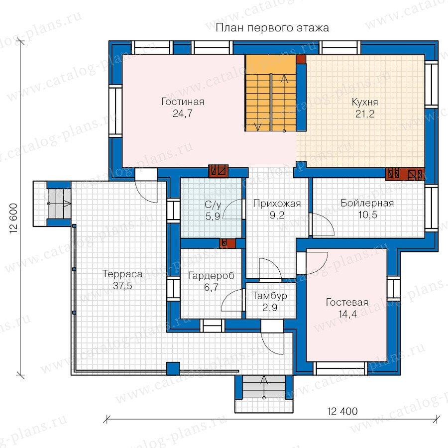 План 1-этажа проекта 57-55