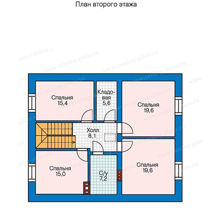 План 2-этажа проекта 57-47A