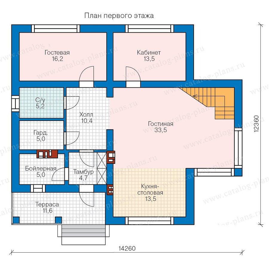 План 1-этажа проекта 58-35K