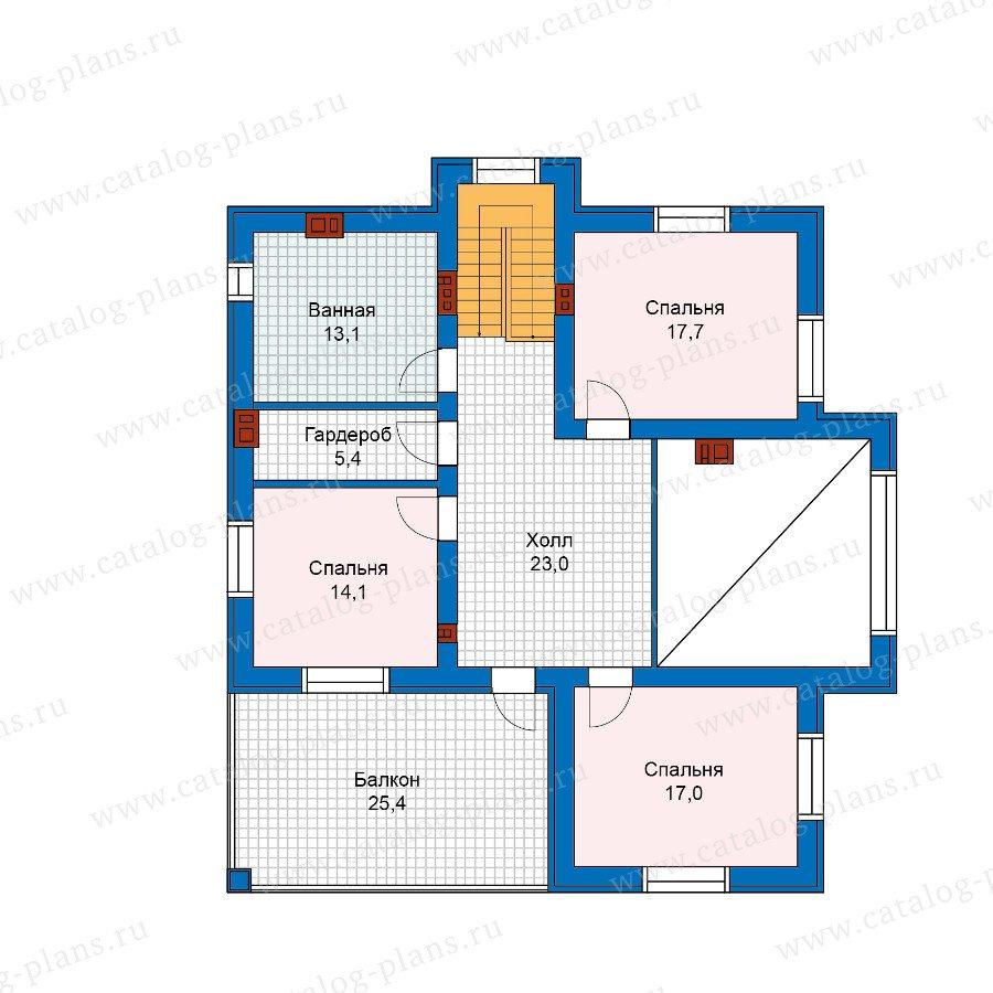 План 2-этажа проекта 57-54