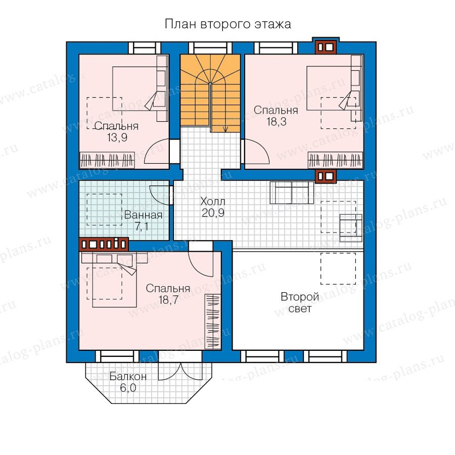 План 2-этажа проекта 58-23K