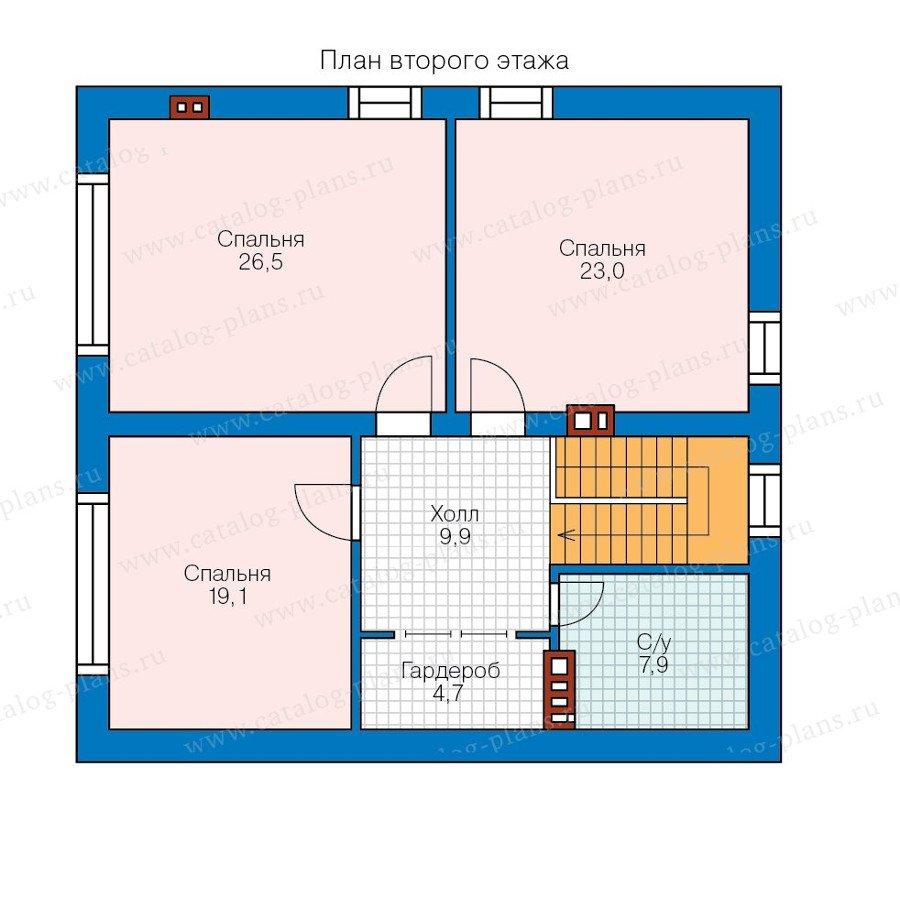 План 2-этажа проекта 58-20L