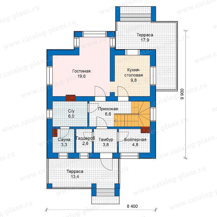 План 1-этажа проекта 57-51K