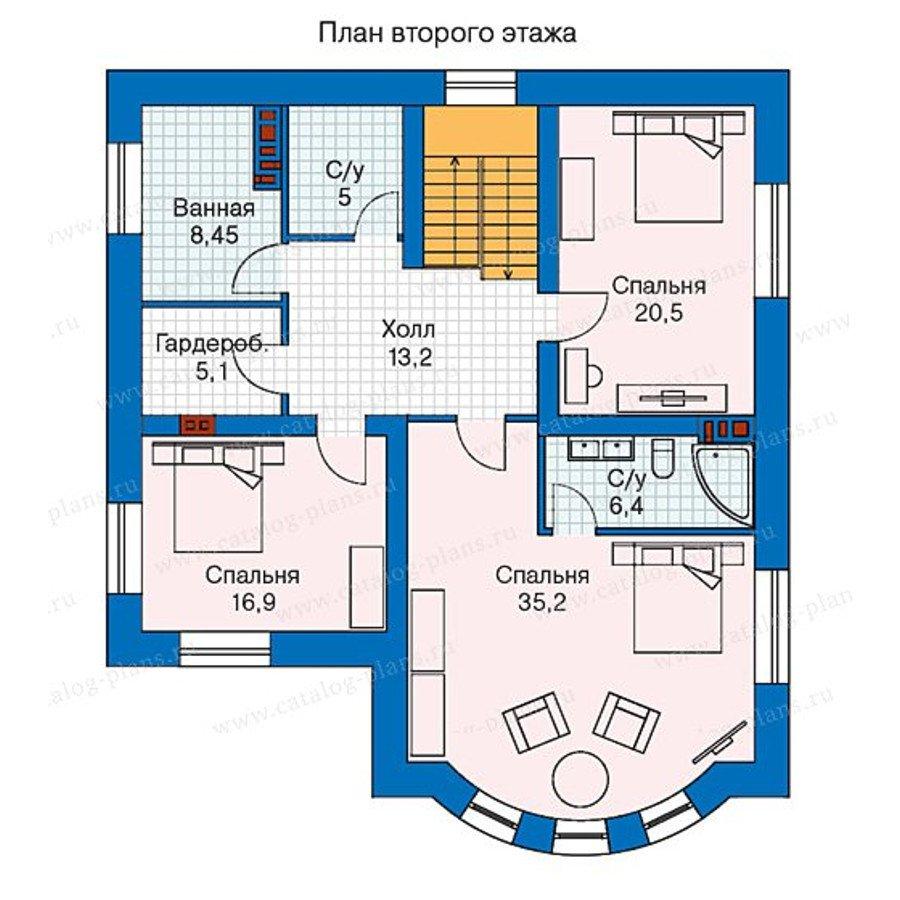 План 2-этажа проекта 57-60K
