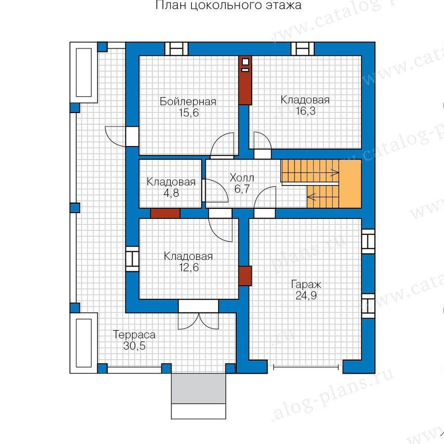 План 1-этажа проекта 57-72K
