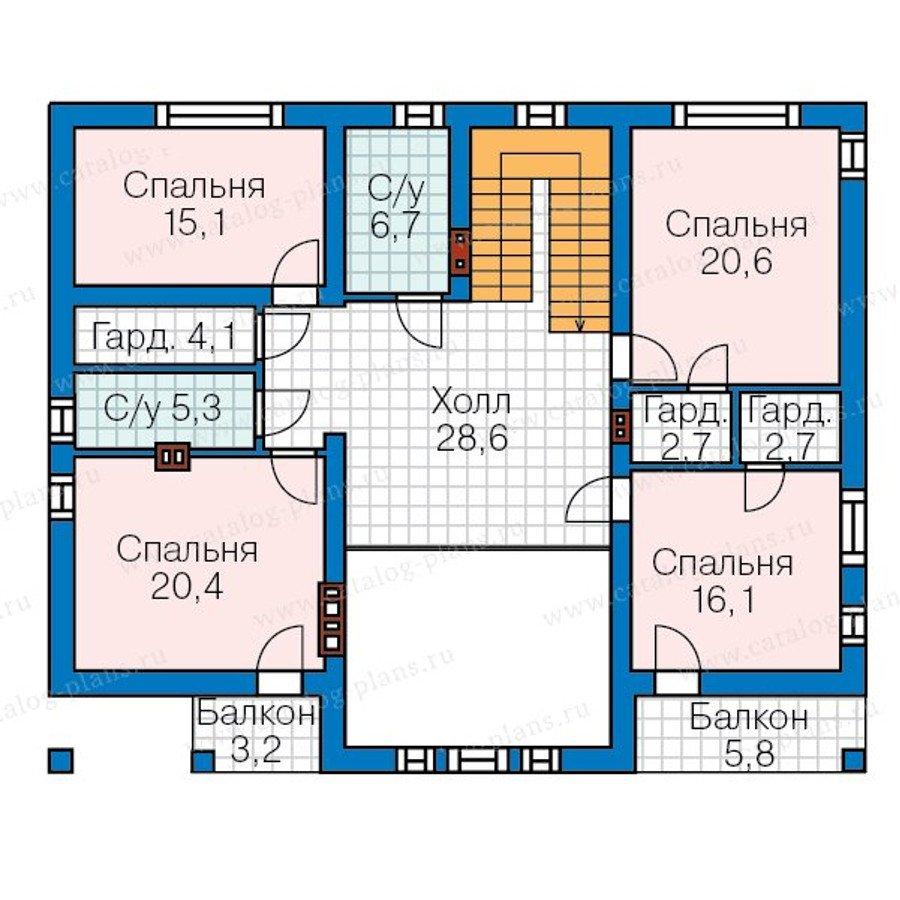План 3-этажа проекта 57-70K