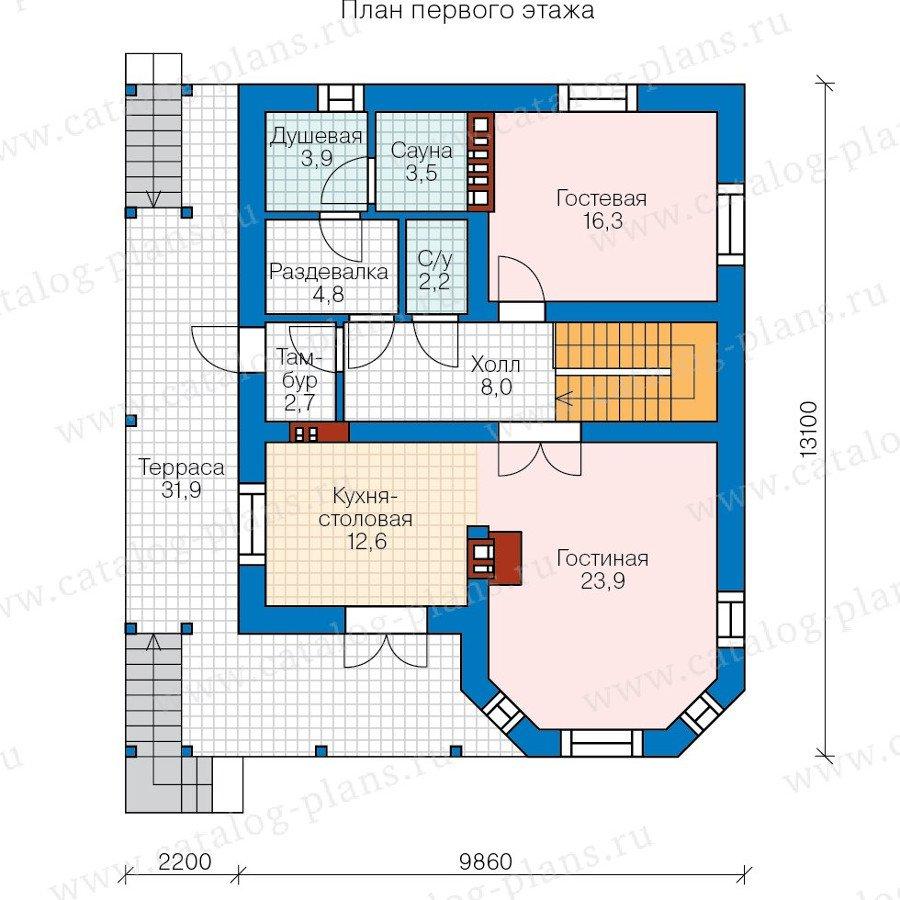 План 2-этажа проекта 57-72K