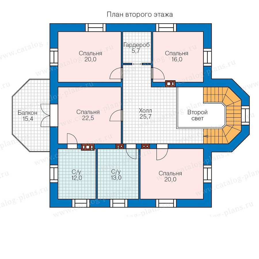 План 2-этажа проекта 40-41GL