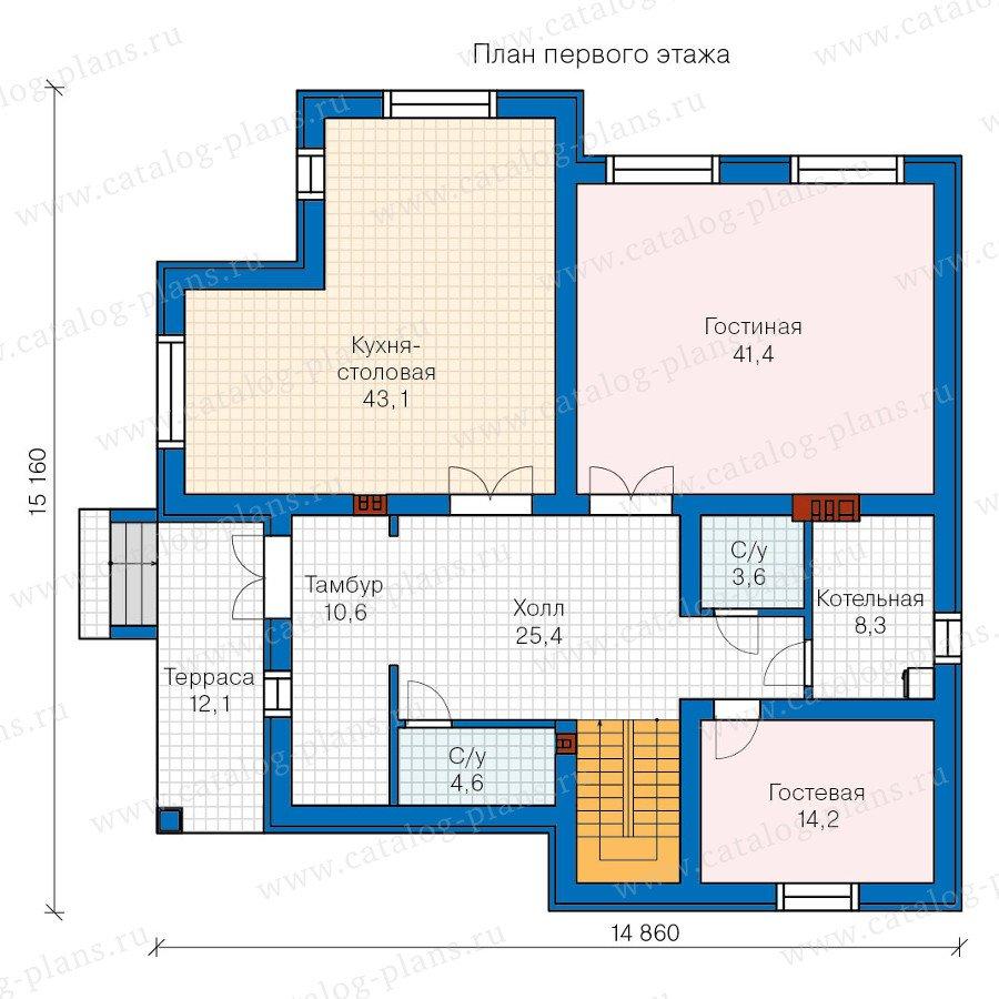 План 1-этажа проекта 57-56K