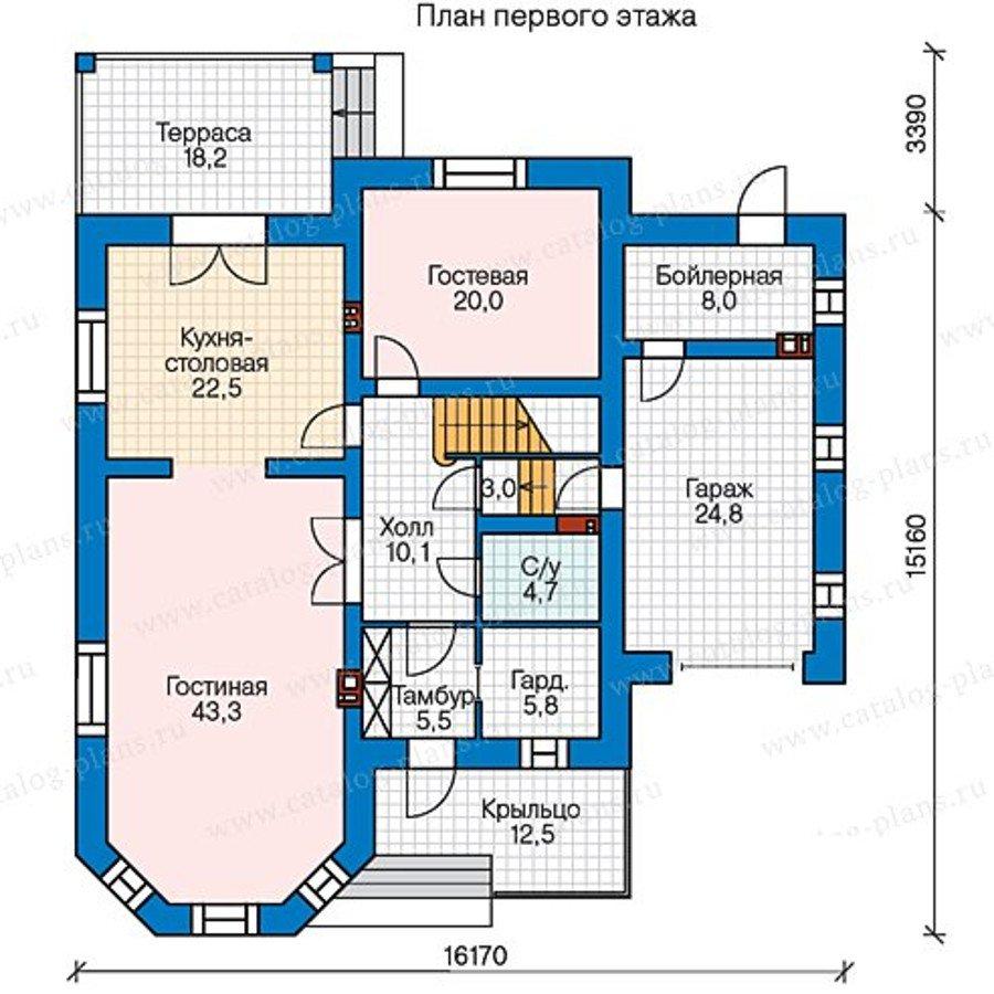 План 1-этажа проекта 40-35